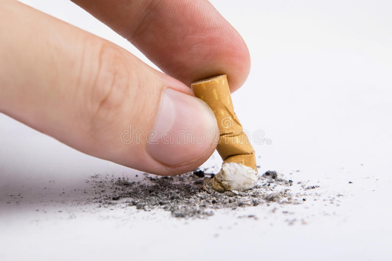 Download Cigarette In A Hand Stock Photo - Image: 11408140