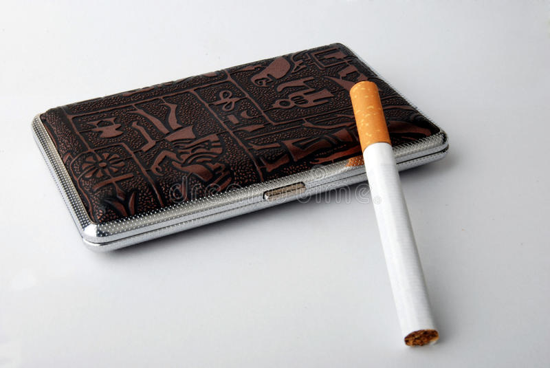 Cigarette case royalty free stock image