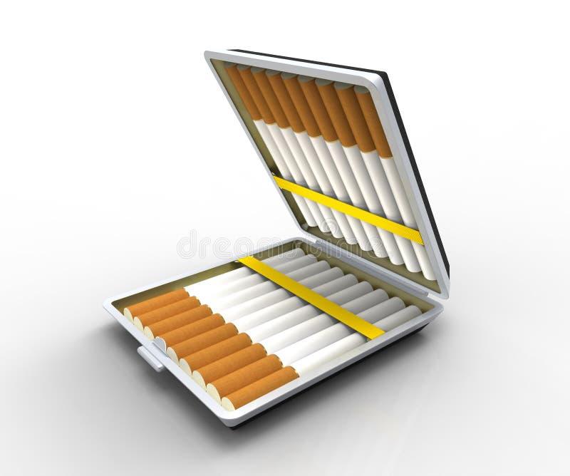 Download Cigarette case stock illustration. Illustration of closeup - 22489631