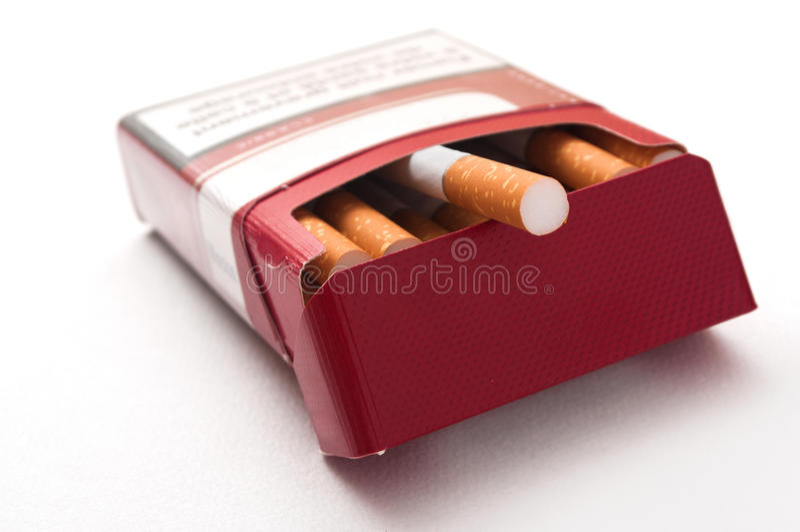 Cigarette closeup stock image