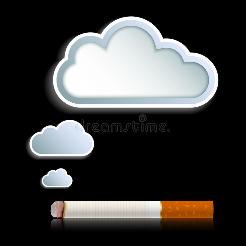 Download Cigarette With Cloud Of Smoke Stock Vector - Image: 27554829