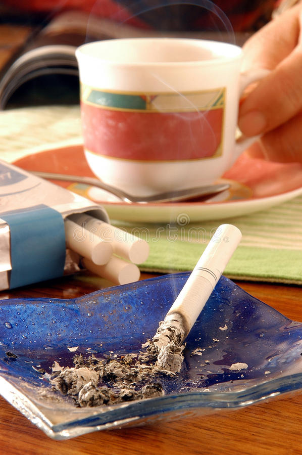 Download Cigarette and Coffee stock image. Image of snuff, cigarettes - 25020337