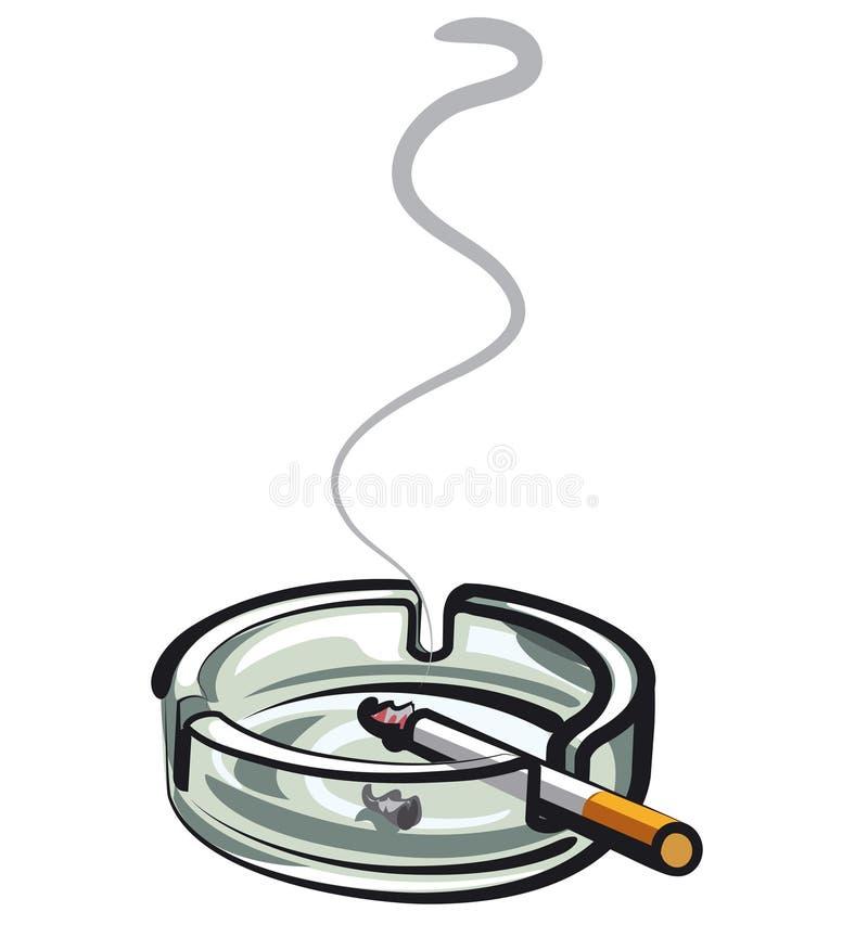 Cigarette dans le cendrier illustration libre de droits