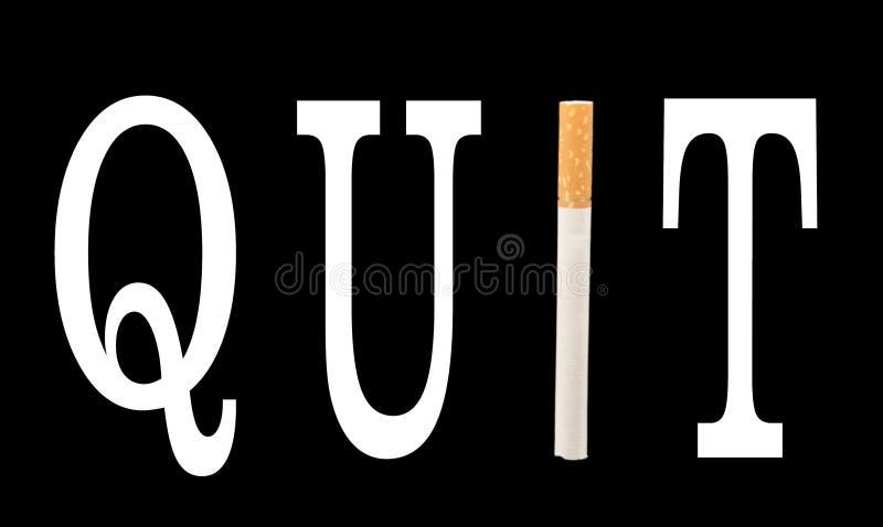 Cigarette de fumage quittée image libre de droits