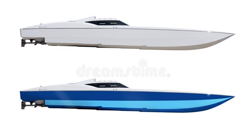 Cigarette emballant des bateaux de canot automobile de vitesse d'isolement photos stock
