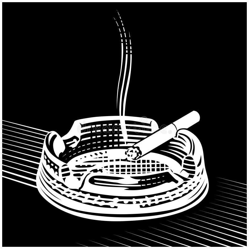 Cigarette engraving. Vintage in cigarette engraving vector illustration