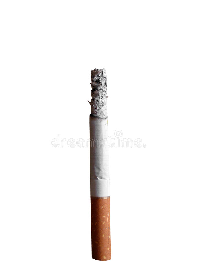 Cigarette isolated royalty free stock photography