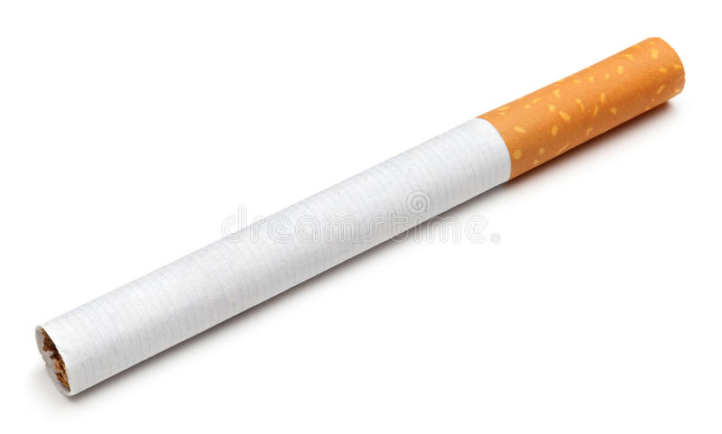 Cigarette. Isolated on a white background stock photos