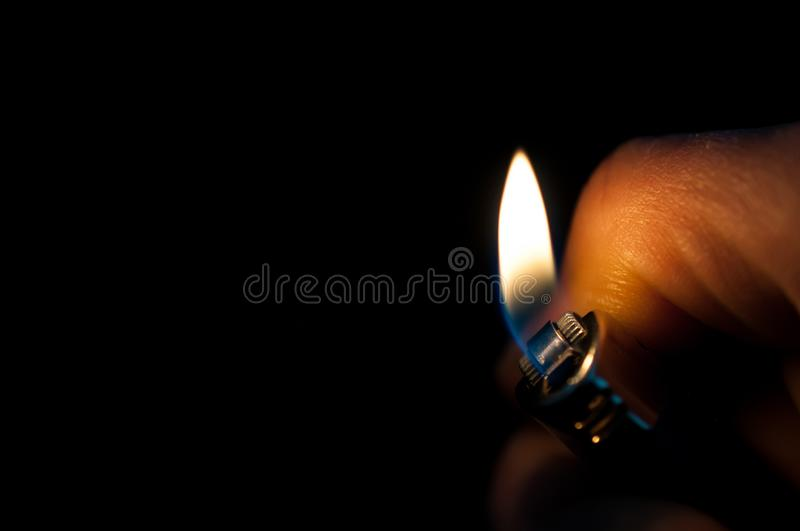 Cigarette lighter. royalty free stock photography