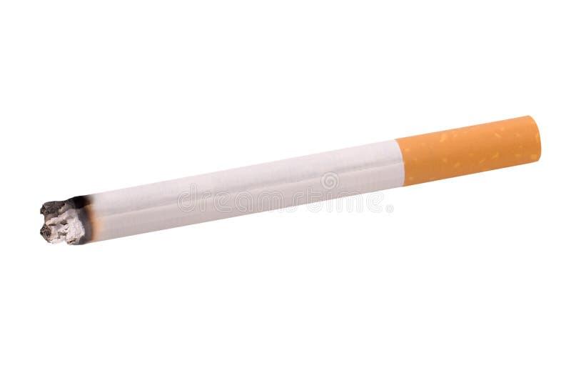 Cigarette lit stock image