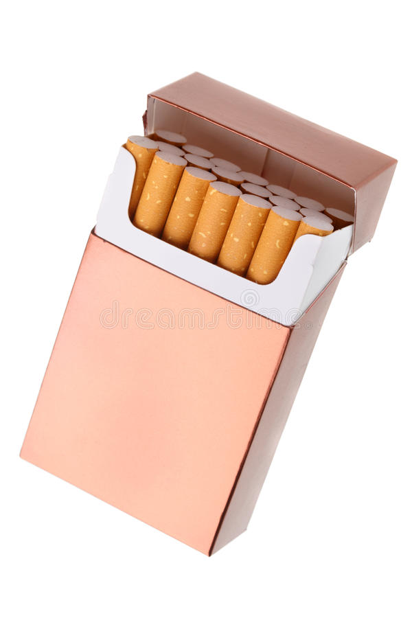 Cigarette pack royalty free stock image
