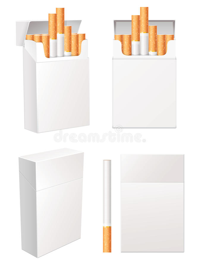 Download Cigarette pack stock vector. Image of blank, concept - 28163700