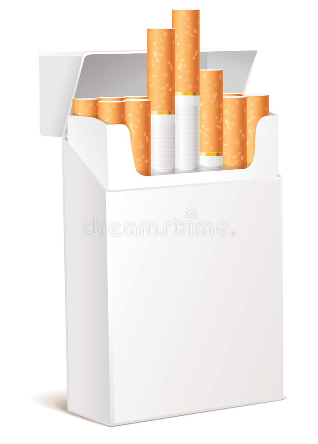 Free Cigarette Pack 3d Stock Photo - 28163730