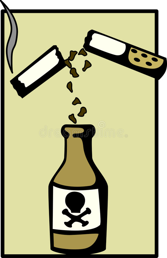 Download Cigarette Poison Vector Illustration Stock Image - Image: 1345261