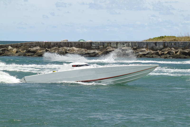 Cigarette race boat - 1 royalty free stock image