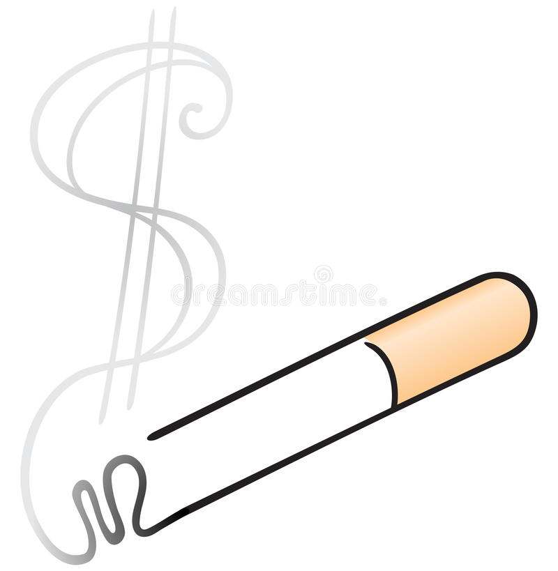Download Cigarette with smoke stock vector. Illustration of expensive - 23222952