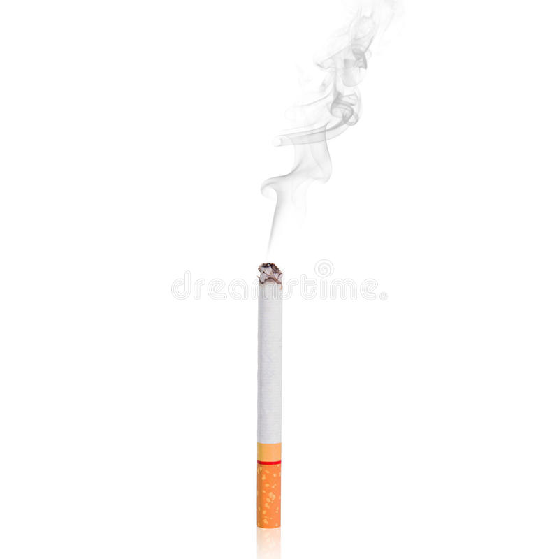 Cigarette with smoke royalty free stock photography