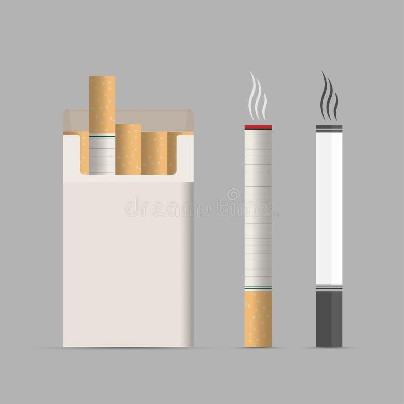 cigaretter öppnad packe låt vara av rökning royaltyfri bild