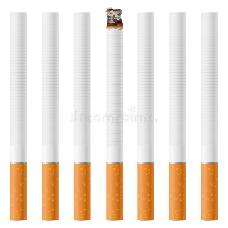 cigaretter vektor illustrationer