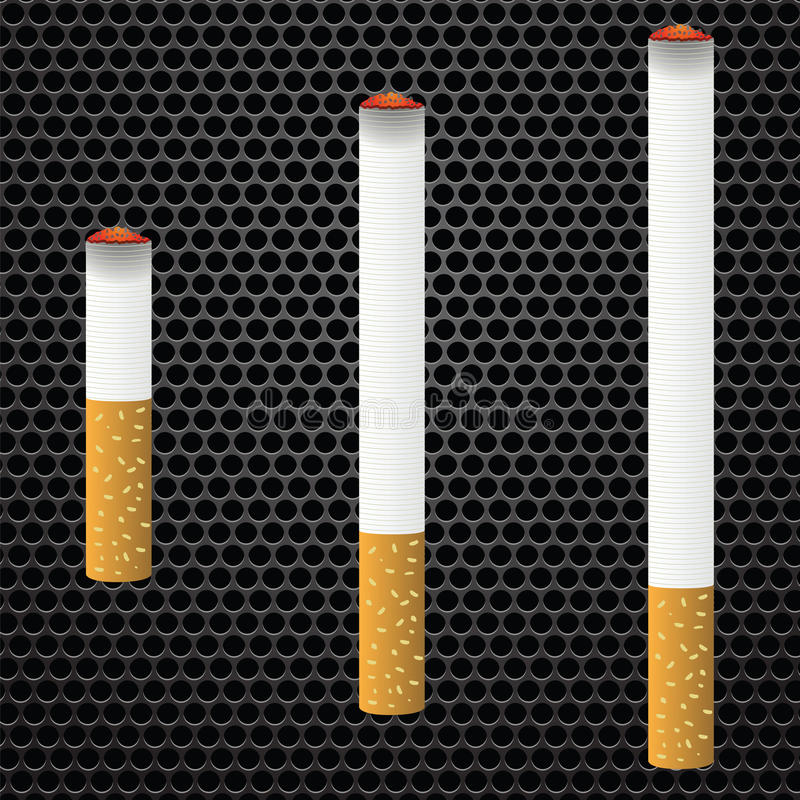 cigaretter royaltyfri illustrationer