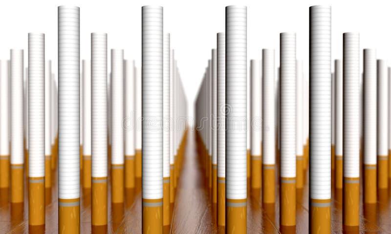 cigaretter stock illustrationer