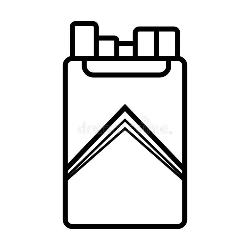 cigaretter gears symbolen stock illustrationer