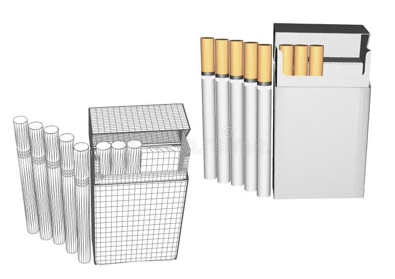 Cigaretter i en packe vektor illustrationer