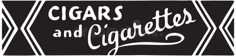Cigaretter och tobak vektor illustrationer