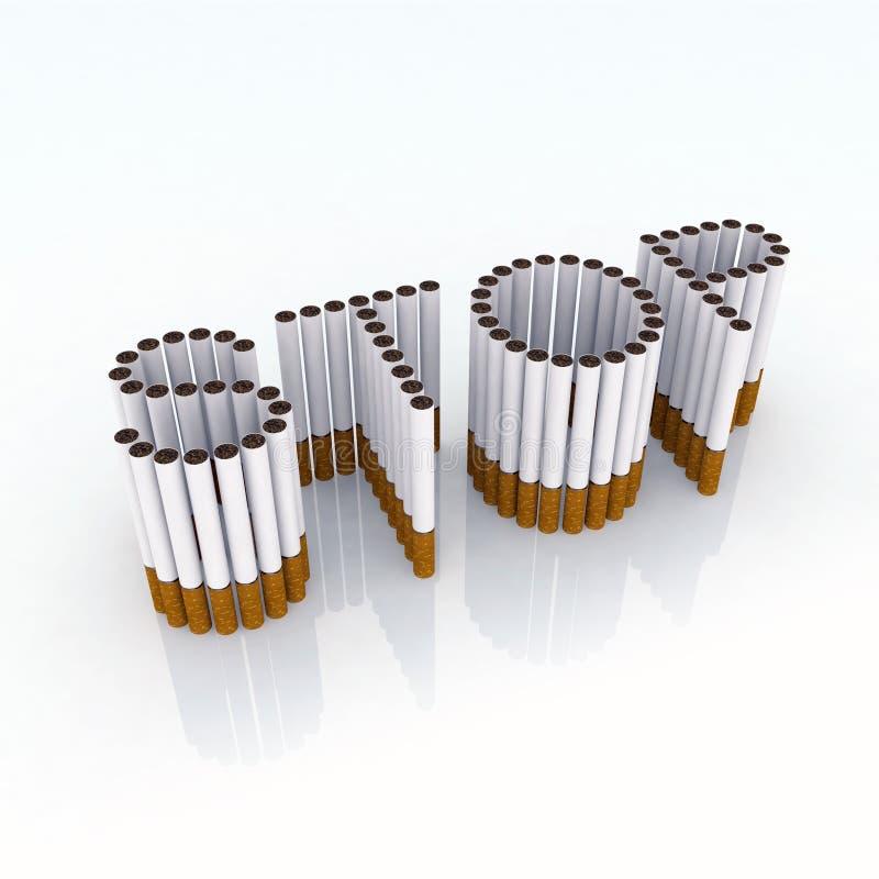 cigaretter stoppar skrivet royaltyfri illustrationer