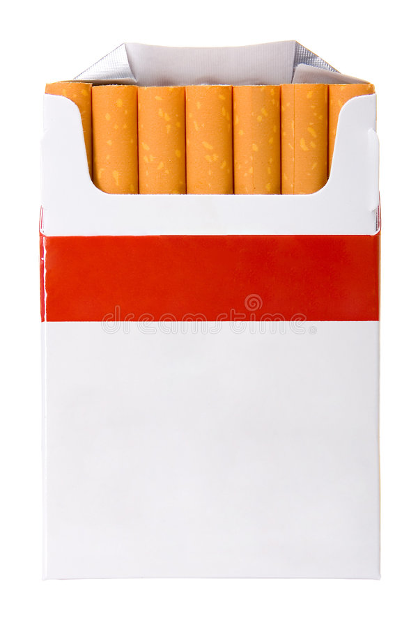 Cigarettes. Box isolated in white background stock photos