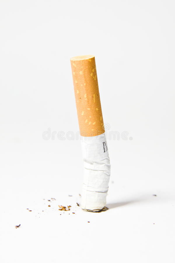 Cigarettes. On a white background stock image