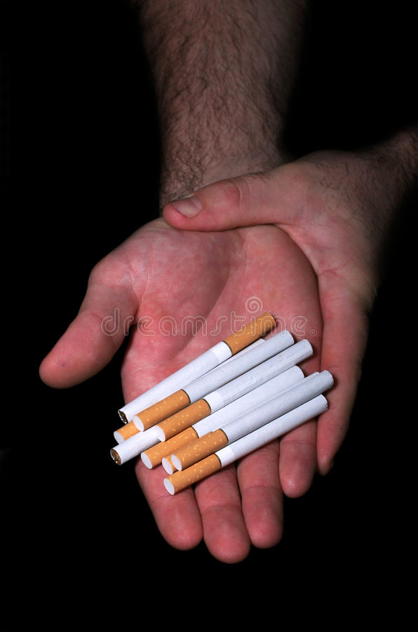 Cigarettes Addiction Royalty Free Stock Images