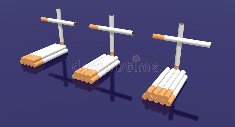 Cigarettes Cemetery Royalty Free Stock Photo