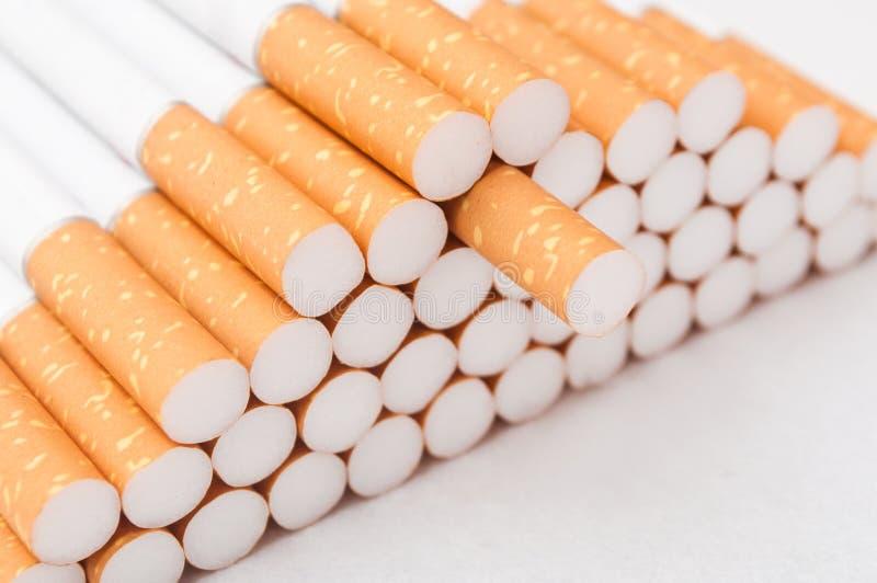 Cigarettes closeup stock image