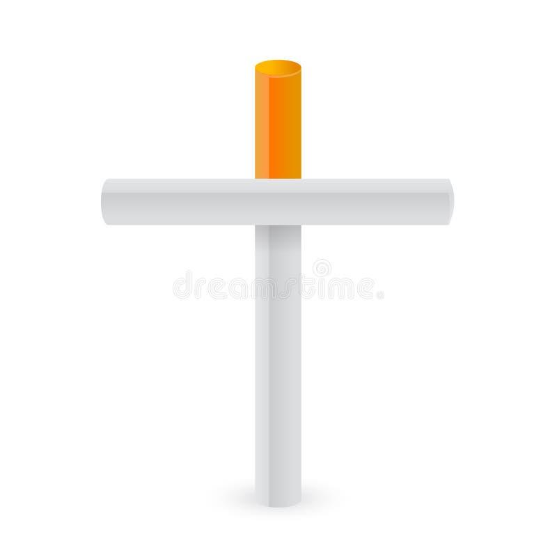 Free Cigarettes Cross. Smoking Kills Metaphor Royalty Free Stock Images - 29816059
