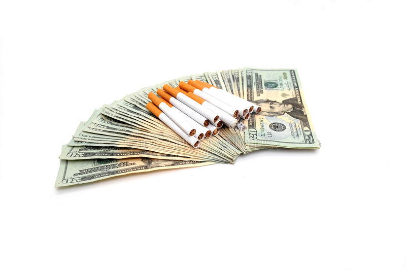 Download Cigarettes And The Money Spent Stock Photo - Image: 14777260