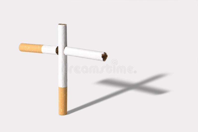 Cigarettes mortelles image libre de droits
