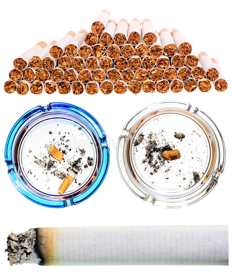 Cigarettes Set Royalty Free Stock Photo