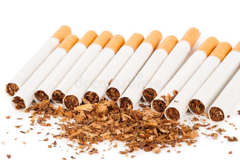Cigarettes sur le fond blanc photographie stock libre de droits