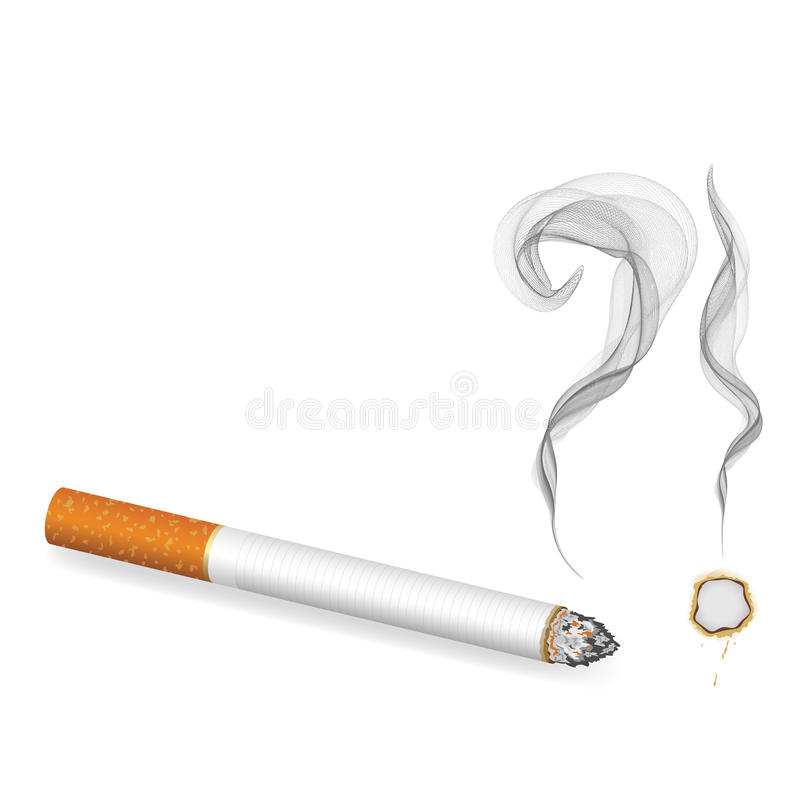 cigarettfråga stock illustrationer