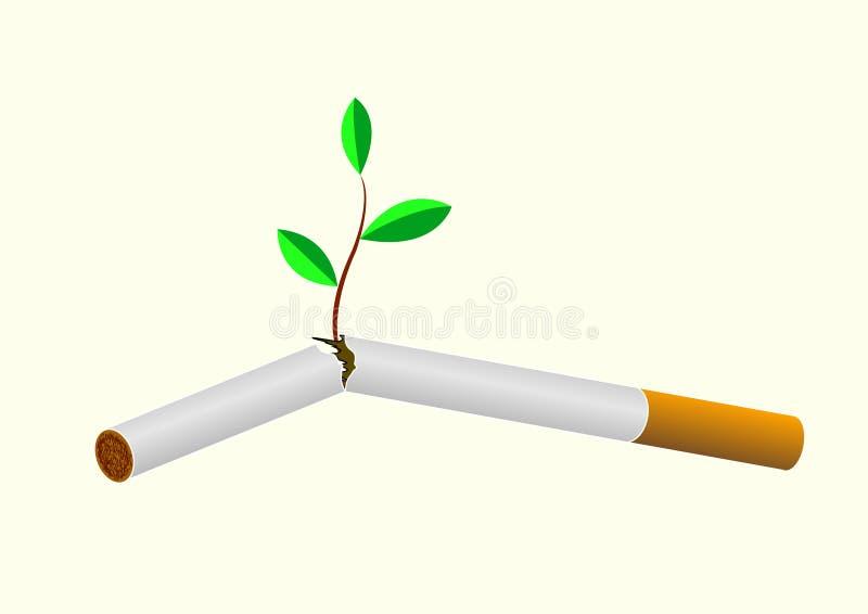 cigarettkast stock illustrationer