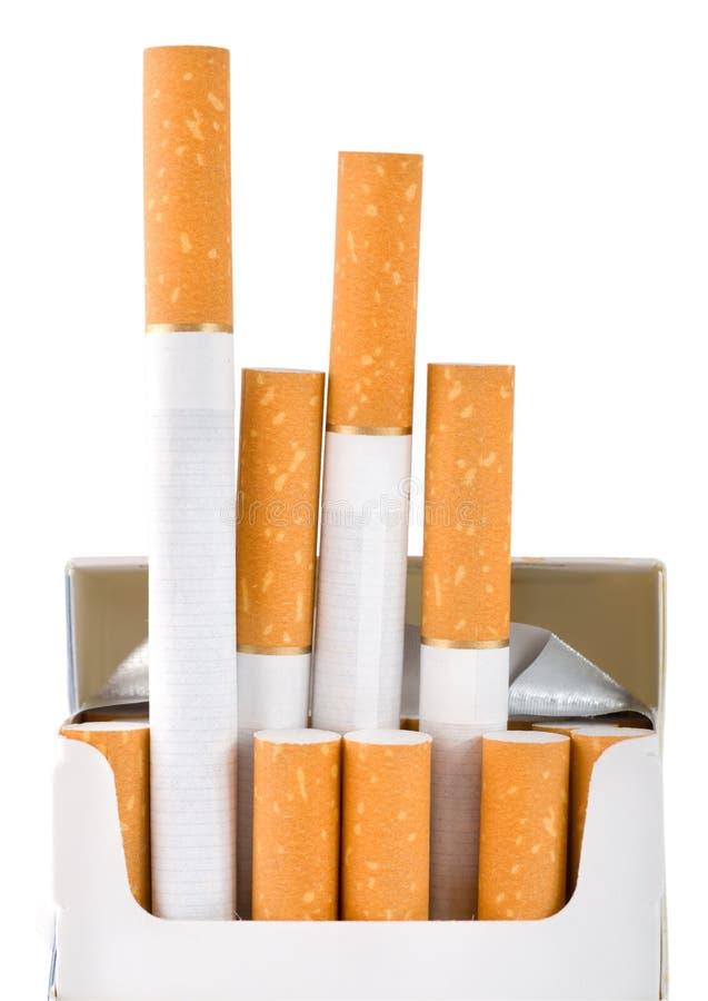 cigarettpackebana royaltyfria foton