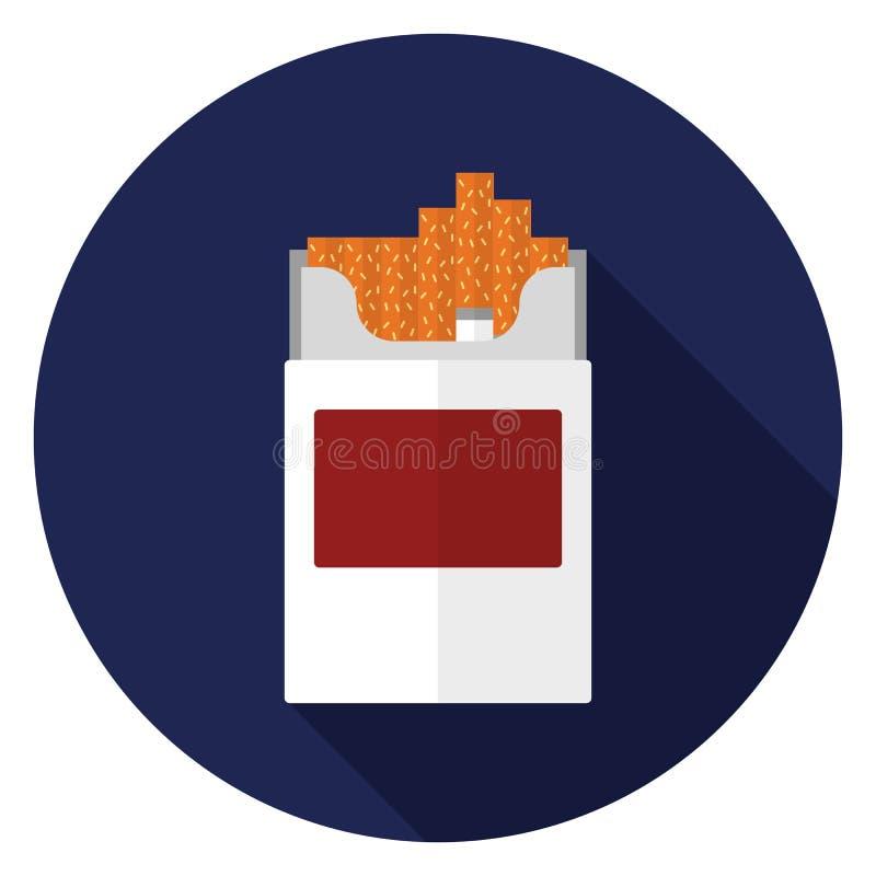 Cigarettsymbol i plan design stock illustrationer