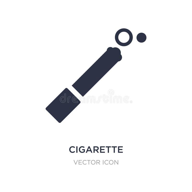 Cigarettsymbol på vit bakgrund Enkel beståndsdelillustration från alkoholbegrepp vektor illustrationer
