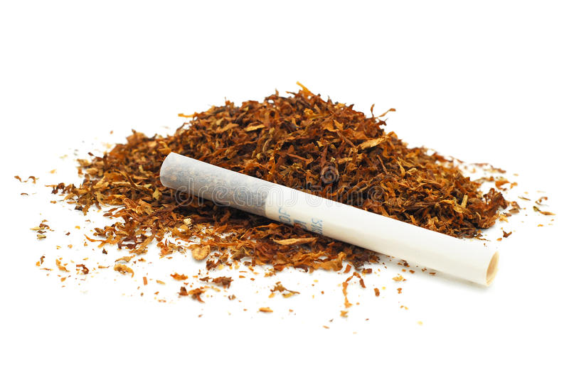 cigaretttobak arkivfoton