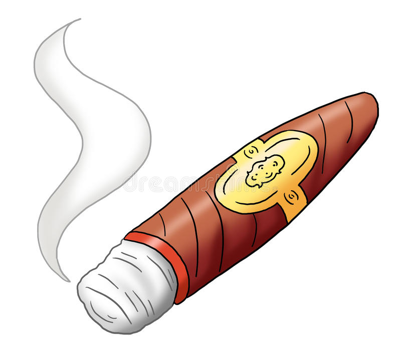 cigarr stock illustrationer