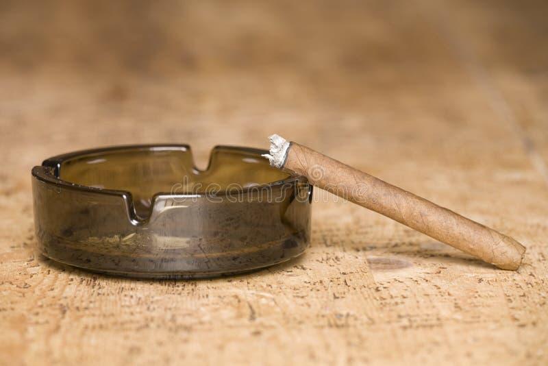 Cigarr- och askamagasin royaltyfria bilder