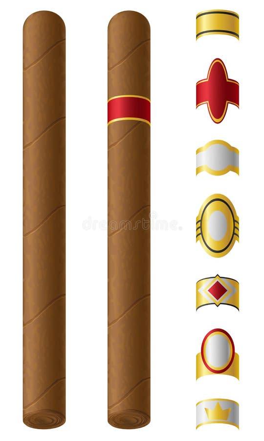Cigarretiketter för dem vektorillustration stock illustrationer