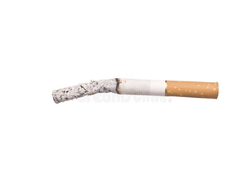 Cigarrette de Lit avec des cendres image libre de droits
