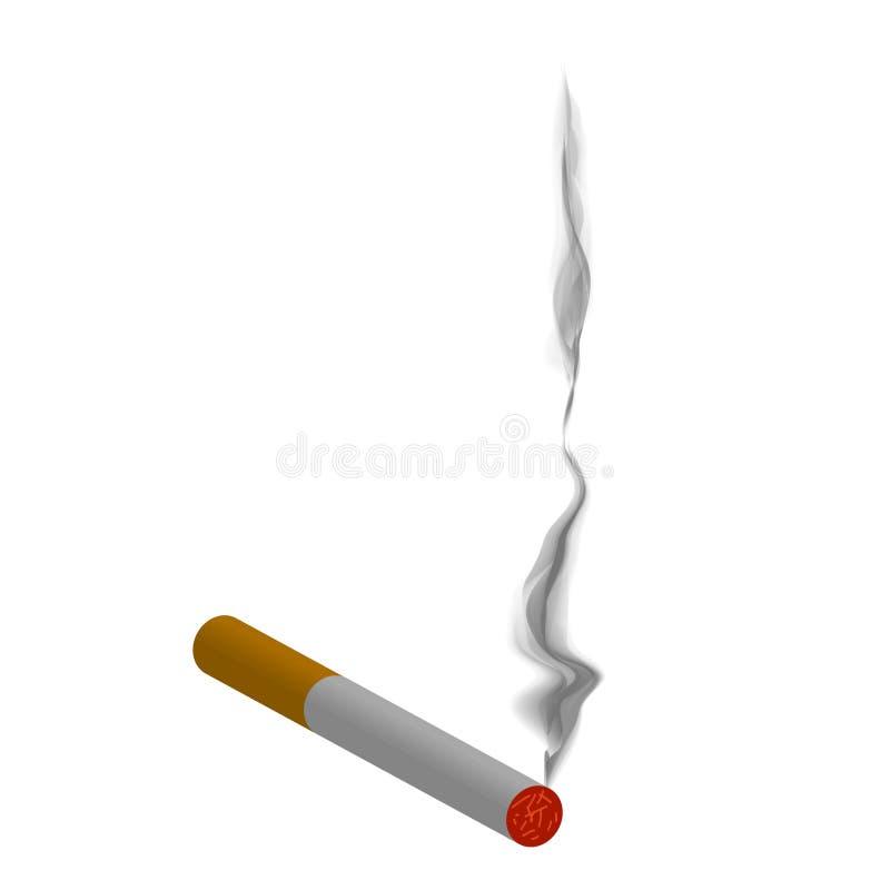Cigarrillo ardiente stock de ilustración